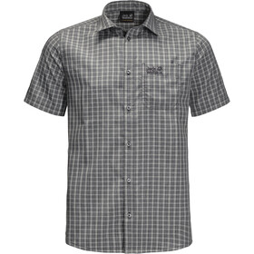 Jack Wolfskin El Dorado Shirt Korte Mouwen Heren, phantom checks